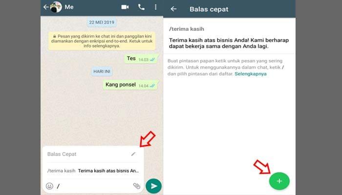 Fitur Balas Cepat whatsApp Business