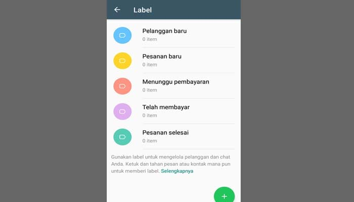 Fitur Label WhatsApp Business