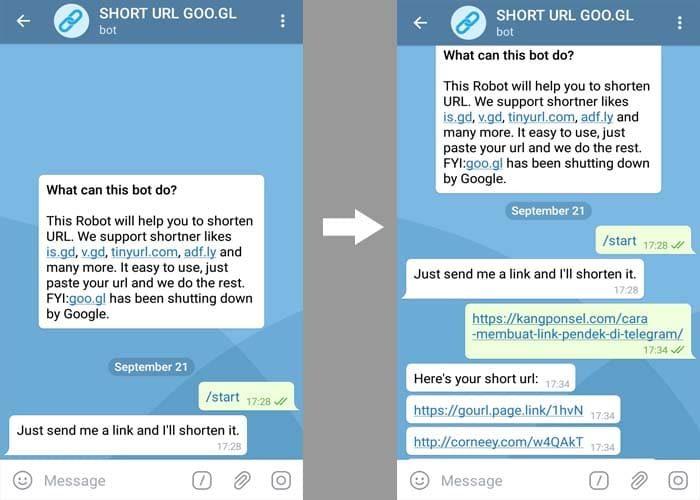 Cara Membuat Link Pendek di Telegram