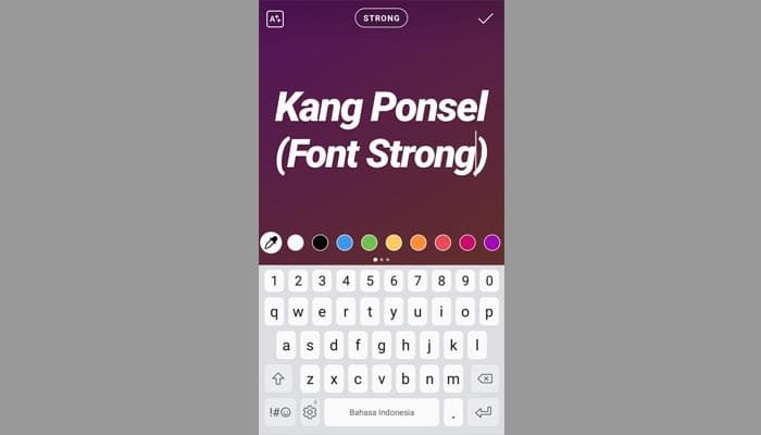 Font strong ig