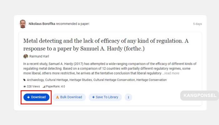 cara download file di academia gratis dengan login terlebih dahulu