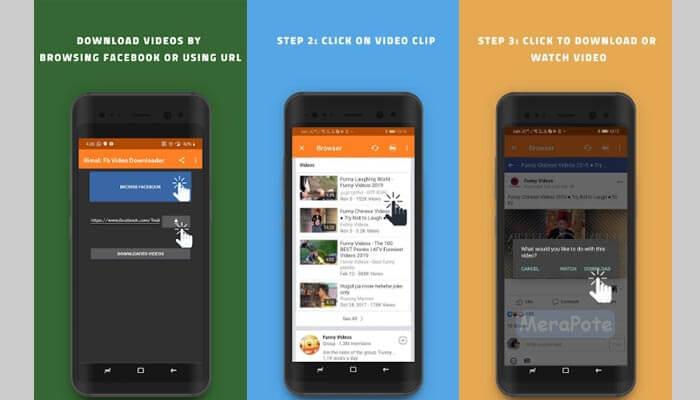 cara download video facebook di android.