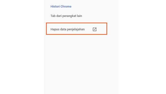 cara menghapus cache browser google chrome
