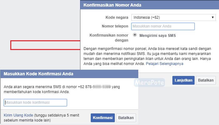 nomor telepon facebook
