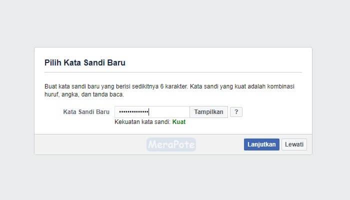 kata sandi facebook