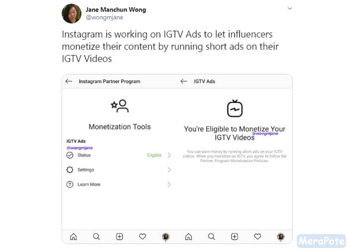 monetisasi igtv instagram