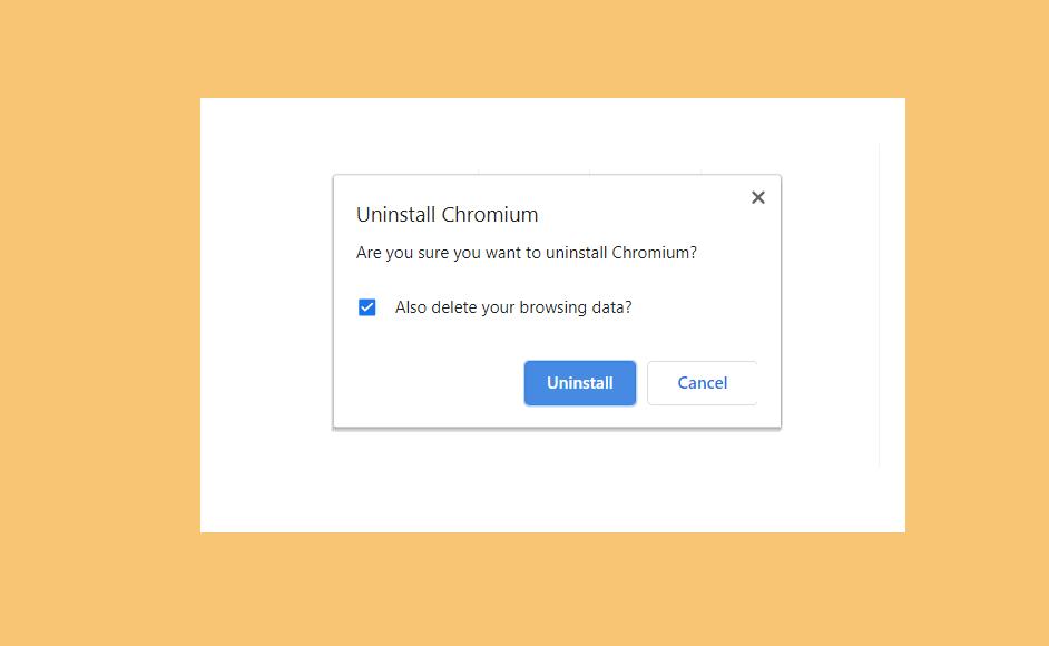 cara menghapus chromium di laptop
