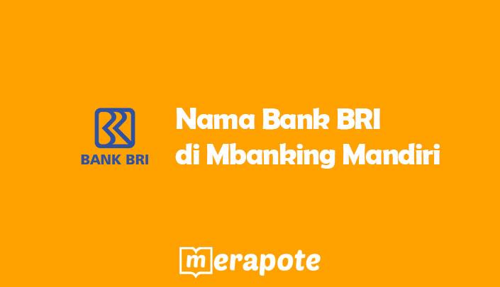 Bank BRI di Mbanking